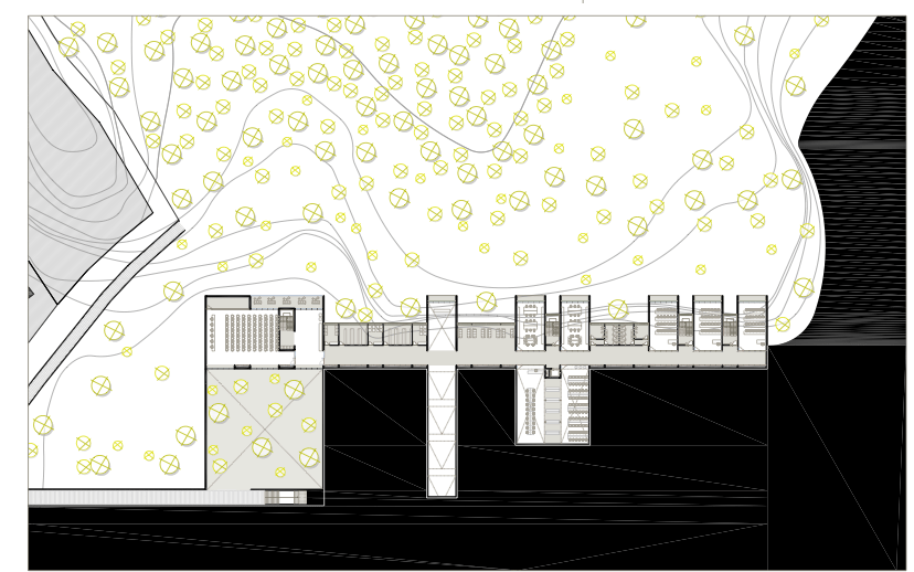 JUAN LUIS MIRAVALLS_Centro de Visitantes en Sierra Gelada_Primera planta/ Visitor Center_First floor