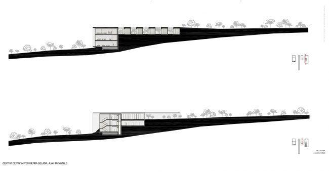 JUAN LUIS MIRAVALLS_Centro de Visitantes en Sierra Gelada_Secciones/ Visitor Center_Sections