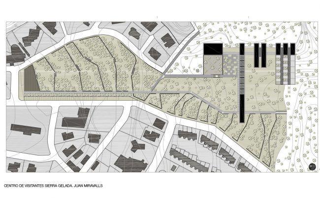 JUAN LUIS MIRAVALLS_Centro de Visitantes en Sierra Gelada_Emplazamiento/ Visitor Center_Site Plan