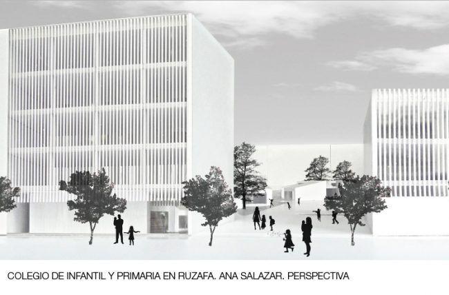 ANA SALAZAR_Colegio de infantil y primaria en Ruzafa_Perspectiva/School in Ruzafa_Perspective