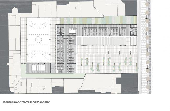 ORETO PINA_Colegio de infantil y primaria en Ruzafa_Planta primera/School in Ruzafa_First floor