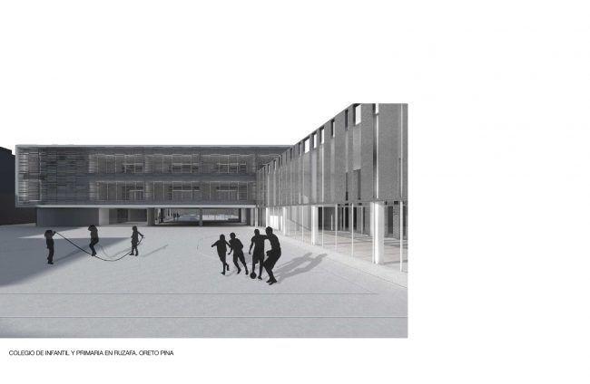 ORETO PINA_Colegio de infantil y primaria en Ruzafa_Perspectiva/School in Ruzafa_perspective