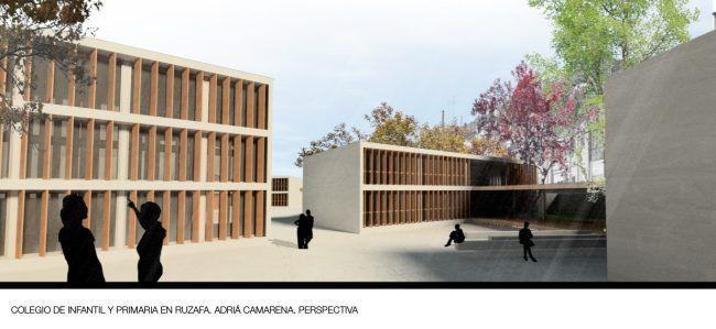 ADRIÁ CAMARENA_Colegio de infantil y primaria en Ruzafa_Perspectiva/School in Ruzafa_Perspective