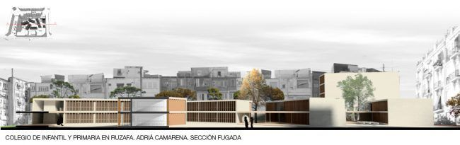 ADRIÁ CAMARENA_Colegio de infantil y primaria en Ruzafa_Sección/School in Ruzafa_Section
