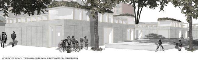 ALBERTO GARCÍA_Colegio de infantil y primaria en Ruzafa_Perspectiva/School in Ruzafa_Perspective