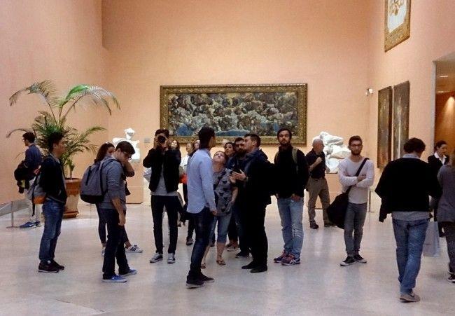 Alumnos de Arquitectura en la visita a Madrid