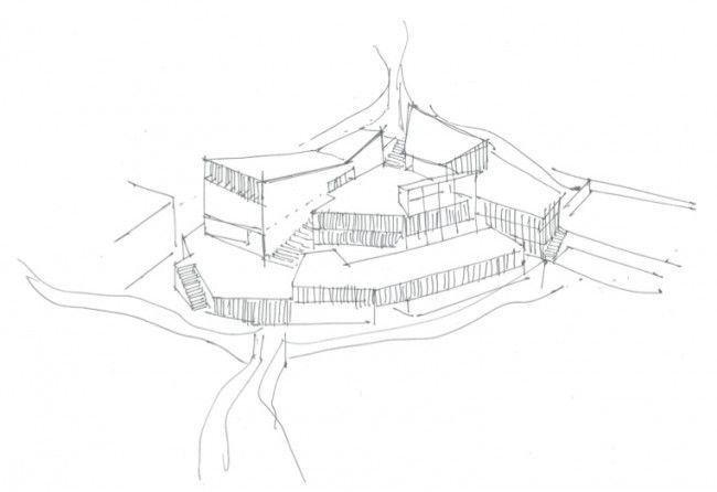 AMELIA PEREA ALMENAR_Iglesia y centro de acogida en Oporto_Dibujos