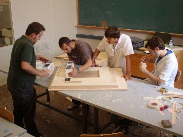 Haciendo maquetas en la Universidad CEU Cardenal Herrera
