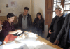 Estudiantes de arquitectura junto a Ana Ábalos en su estudio