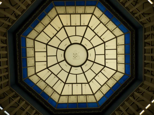 Detalle de la cúpula en el Palacio de Colomina de la CEU UCH