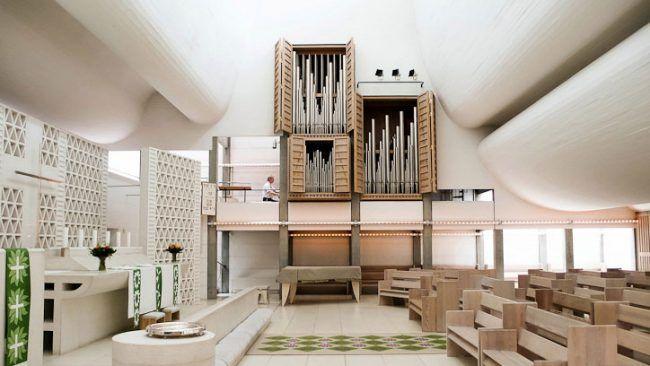 Interior of bagsvaerd church