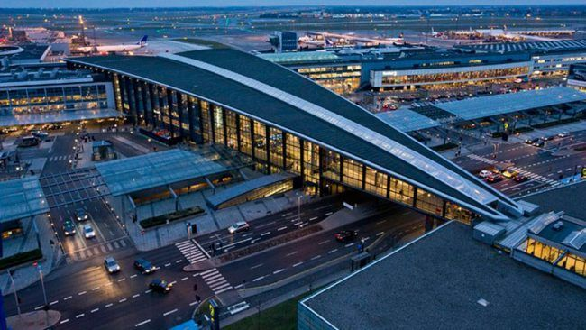 Exterior of Copenhagen airport