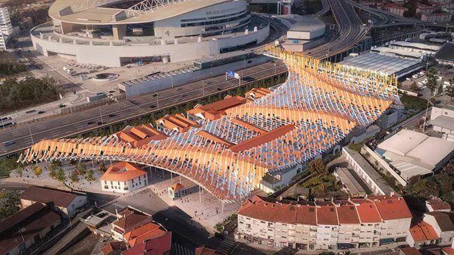 Vista del proyecto de arquitectura moderna Matadouro