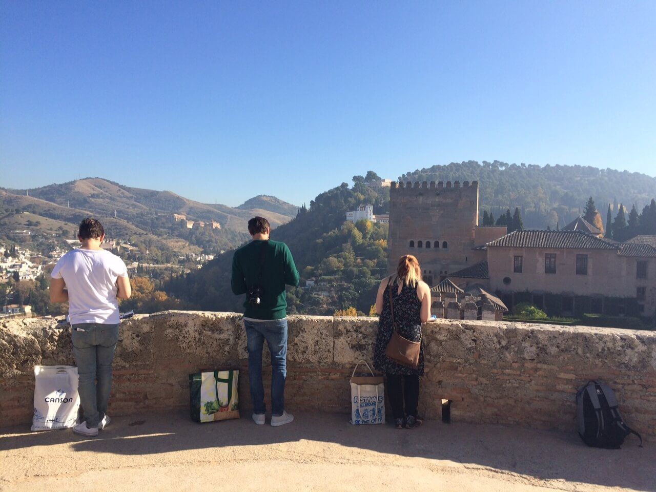 Our students during their visit to La Alhambra