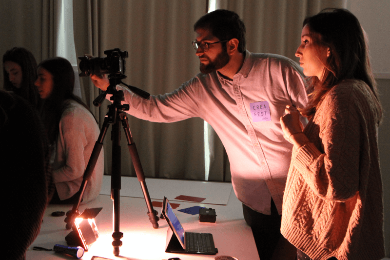 The photography workshop was one of the many workshops led by the Technical School's students themselves during the School's CreaFest Winter event.