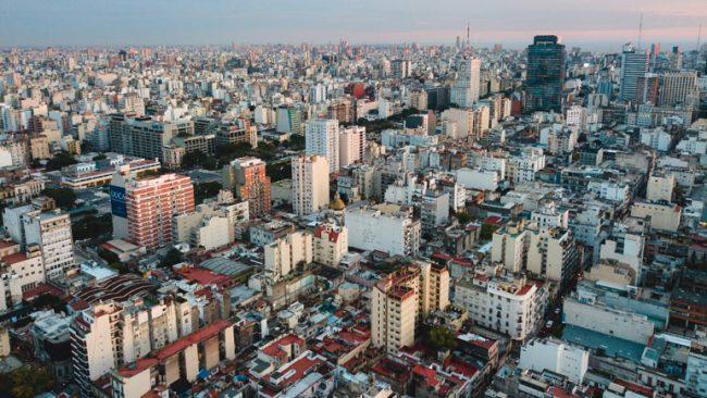 Vista general del gran Buenos Aires