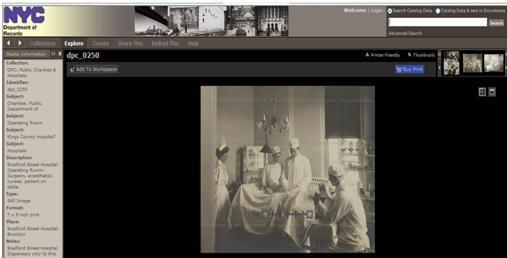 El Archivo Municipal de Nueva York digitaliza imágenes antiguas sobre Beneficencia y Hospitales de Nueva York