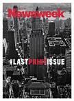 Última portada de la edición impresa de la revista Newsweek en el año 2012