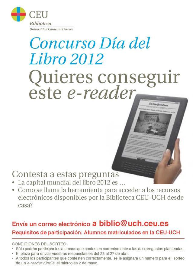 Concurso Día del Libro. ¡Consigue un e-reader!