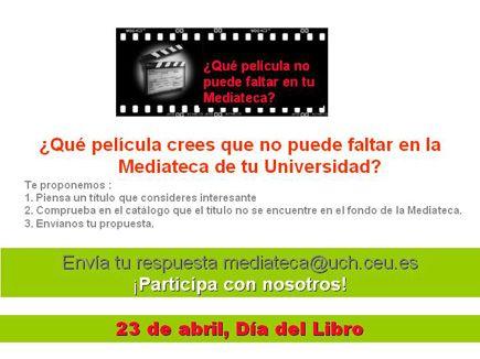 ¿Qué película crees que no puede faltar en la Mediateca de tu Universidad?