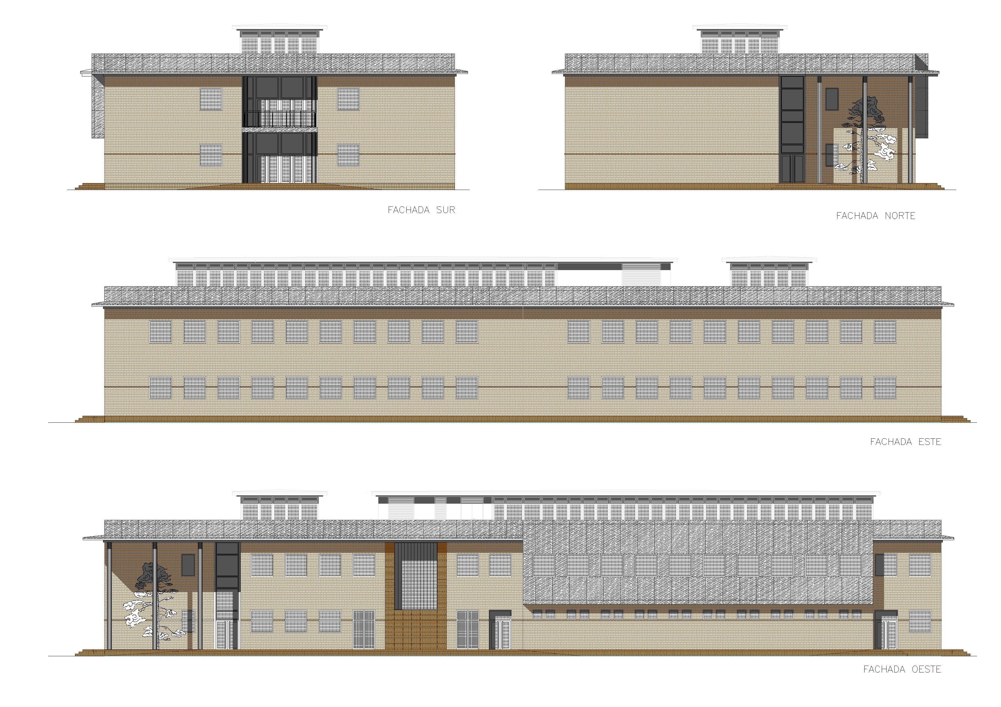 Planos de fachadas fileplanos del proyecto de sedejpg for Planos de bibliotecas