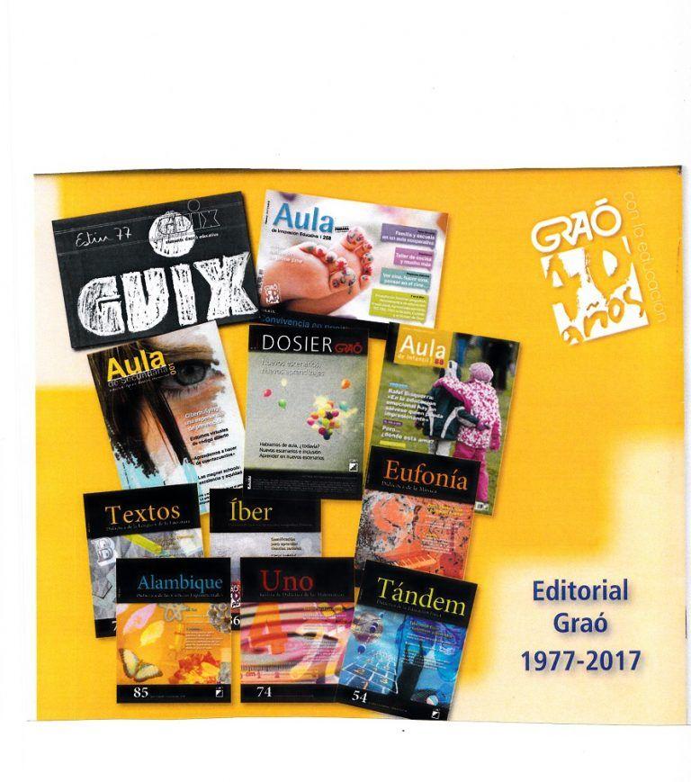 Nuevo acceso online a las Revistas de Educación de la Editorial Graó