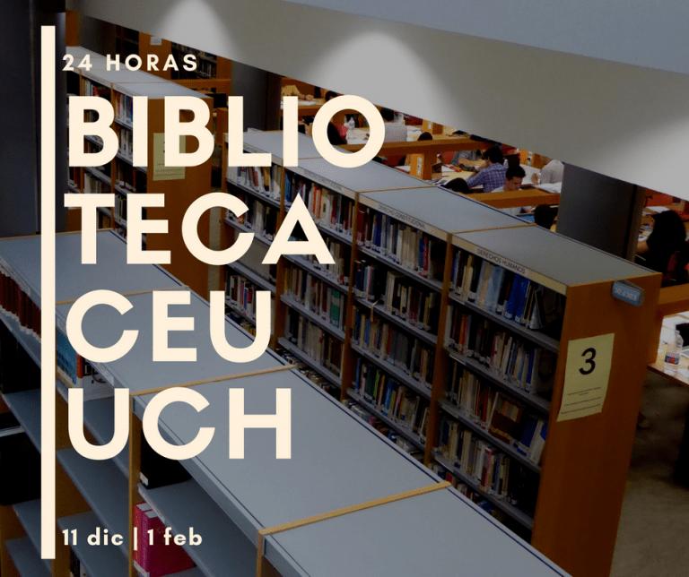 Vuelven las 24 horas de la Biblioteca UCH de Valencia