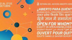 Cartel Semana Internacional del Acceso Abierto