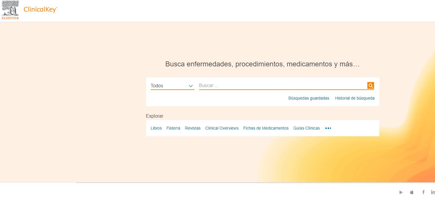 Página de inicio ClinicalKey