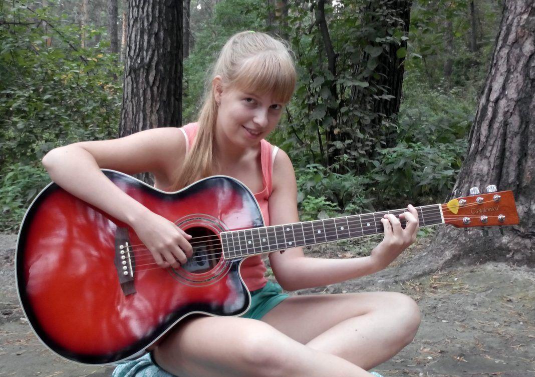 Anastasiya has always enjoyed playing the guitar