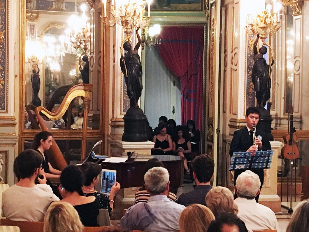Dennis during a concert by the Camerata at the Palacio del Marqués de Dos Aguas