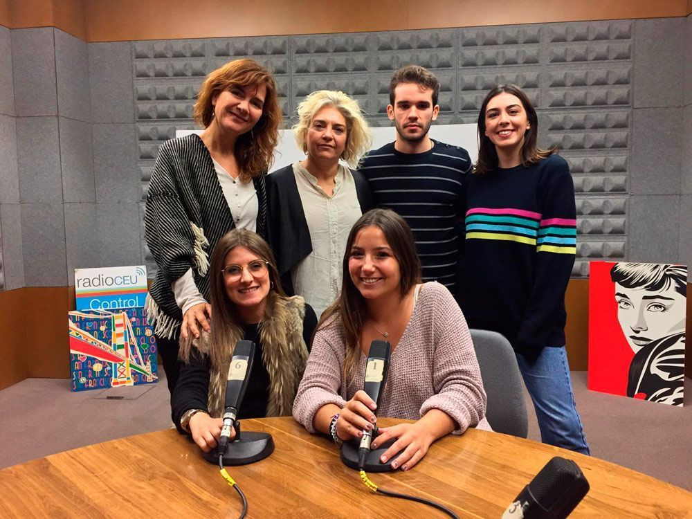 María with the RadioCEU management and colleagues