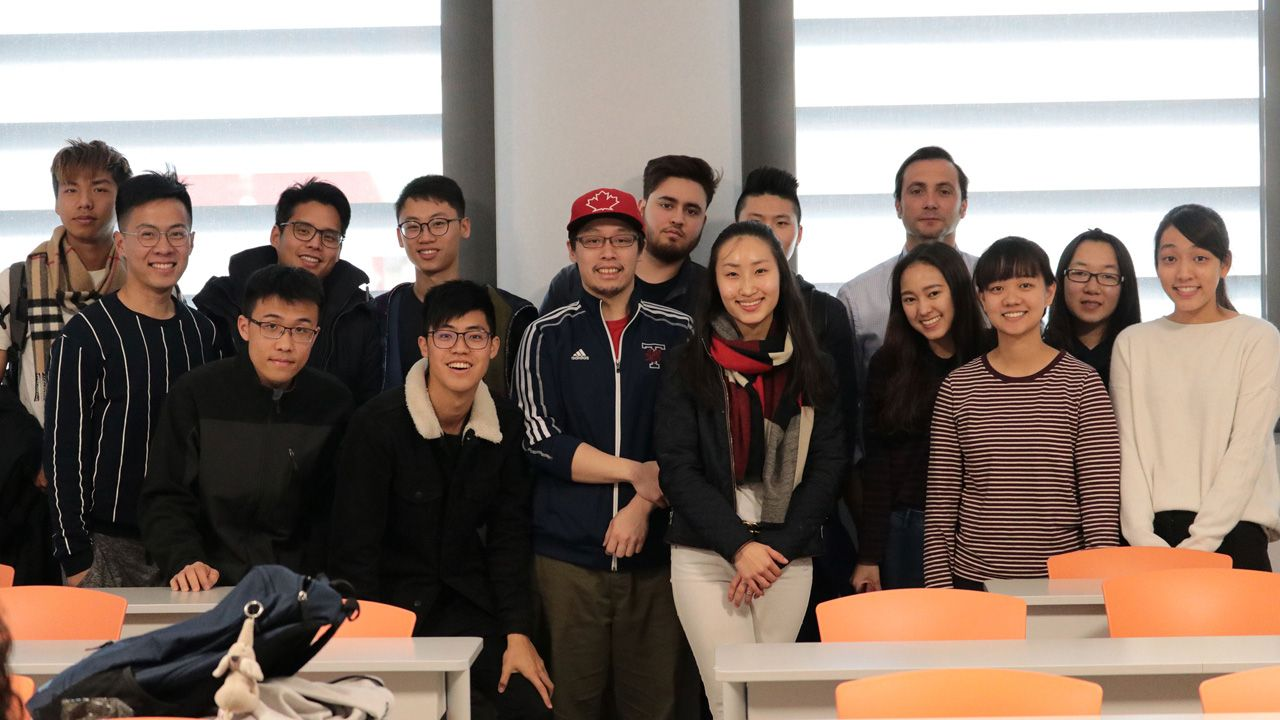 Priscilla with her class after her presentation