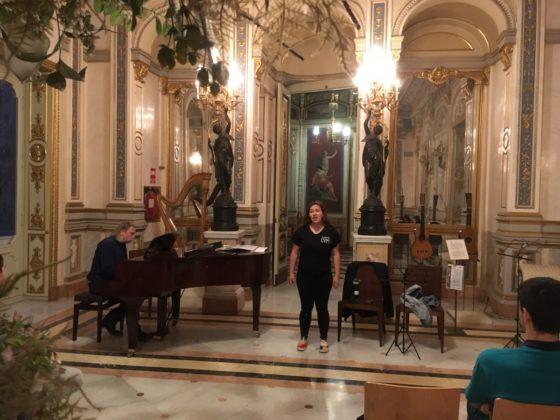 Ensayo Orfeón y Camerata CEU-UCH en el Palacio del Marqués de Dos Aguas