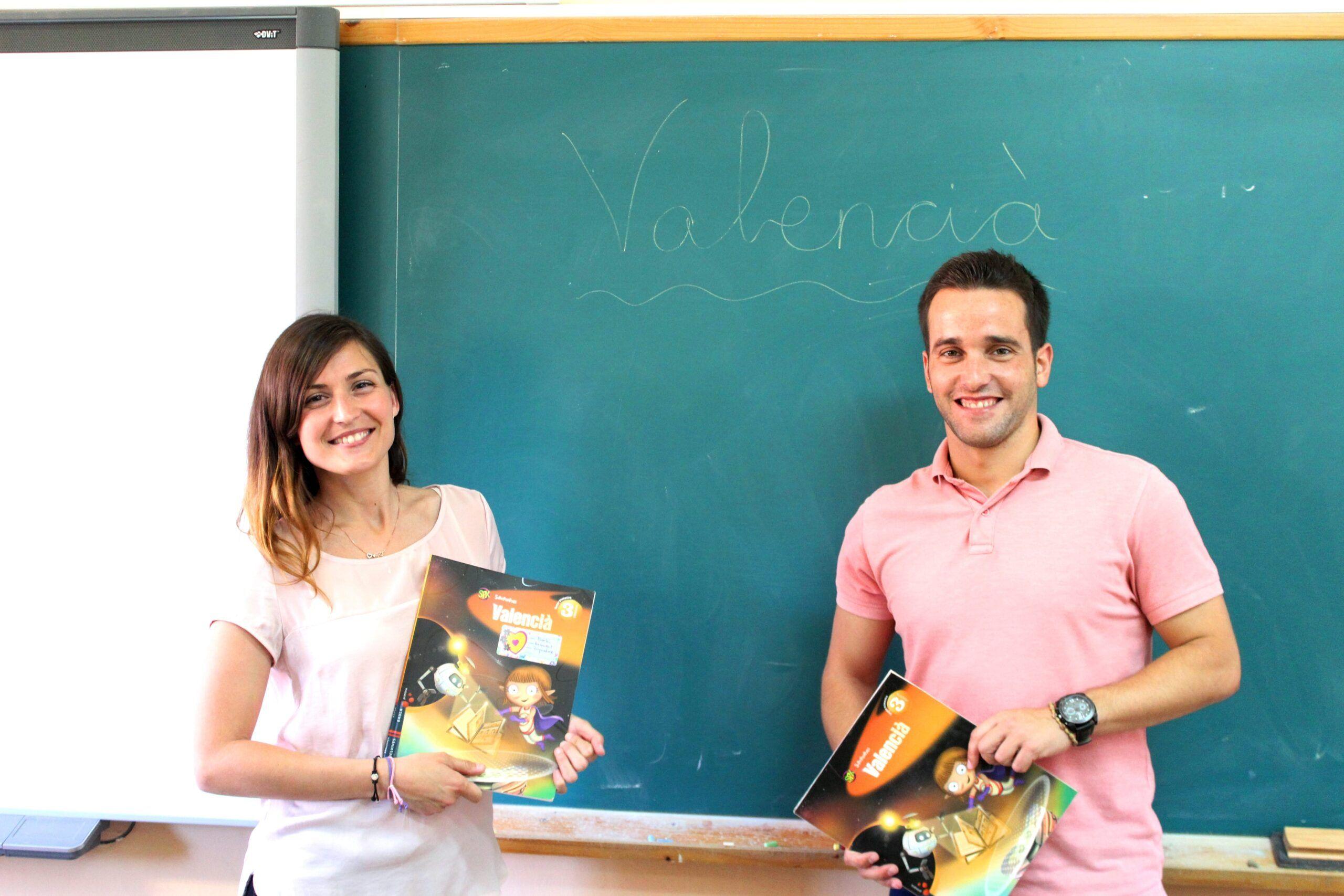 Professors Carla López and Jesús Llavador