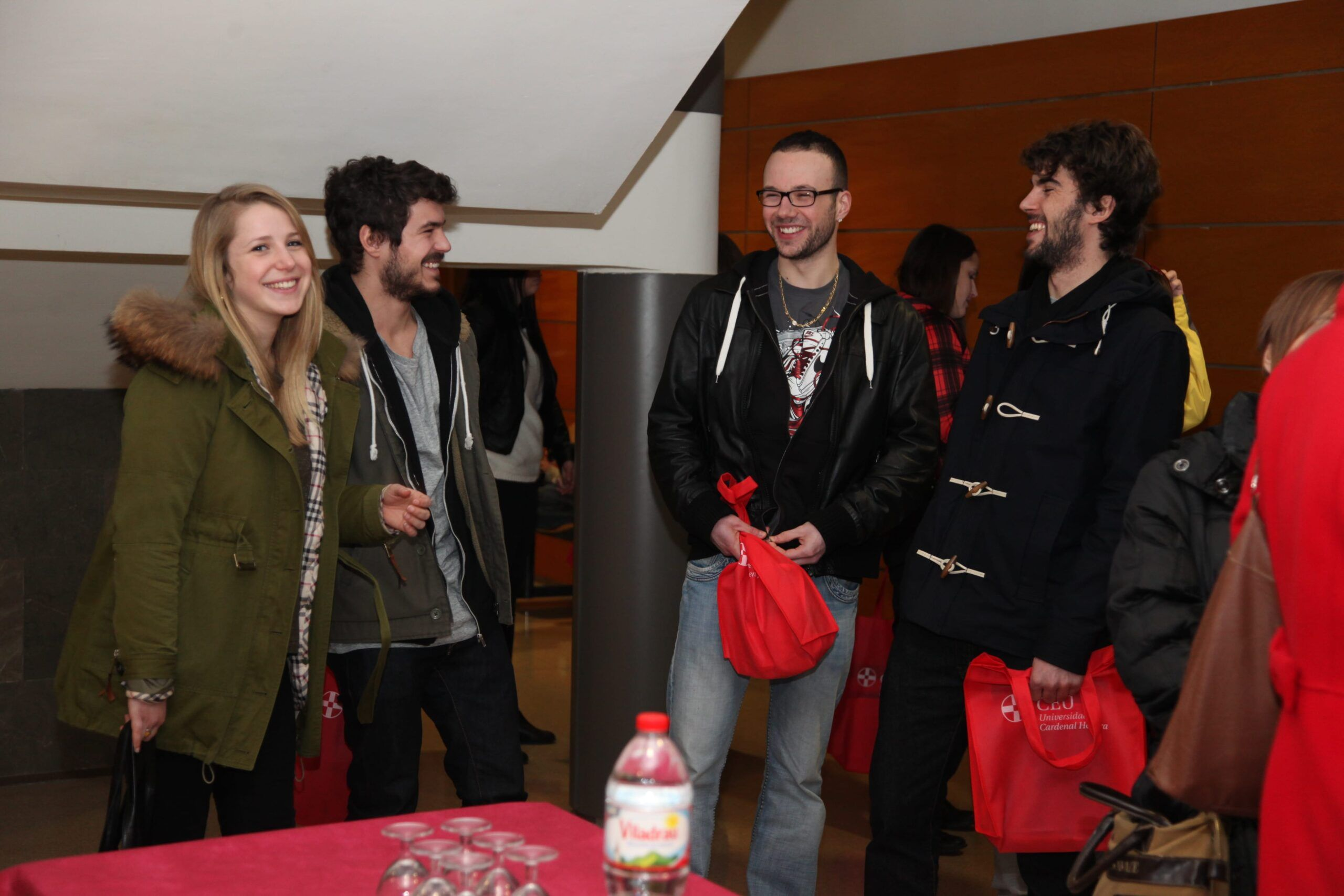 When the students arrived they had a welcoming event with the staff of the International Office of uch-ceu