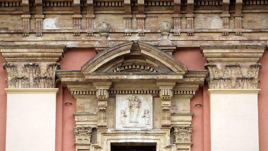 Impressive historical architecture in the Basilica