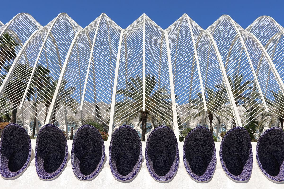 The City of Arts and Sciences, one of the most touristic places in Valencia