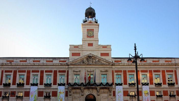 Puerta del Sol in central Madrid, meeting point for Spaniards on New Year's Eve