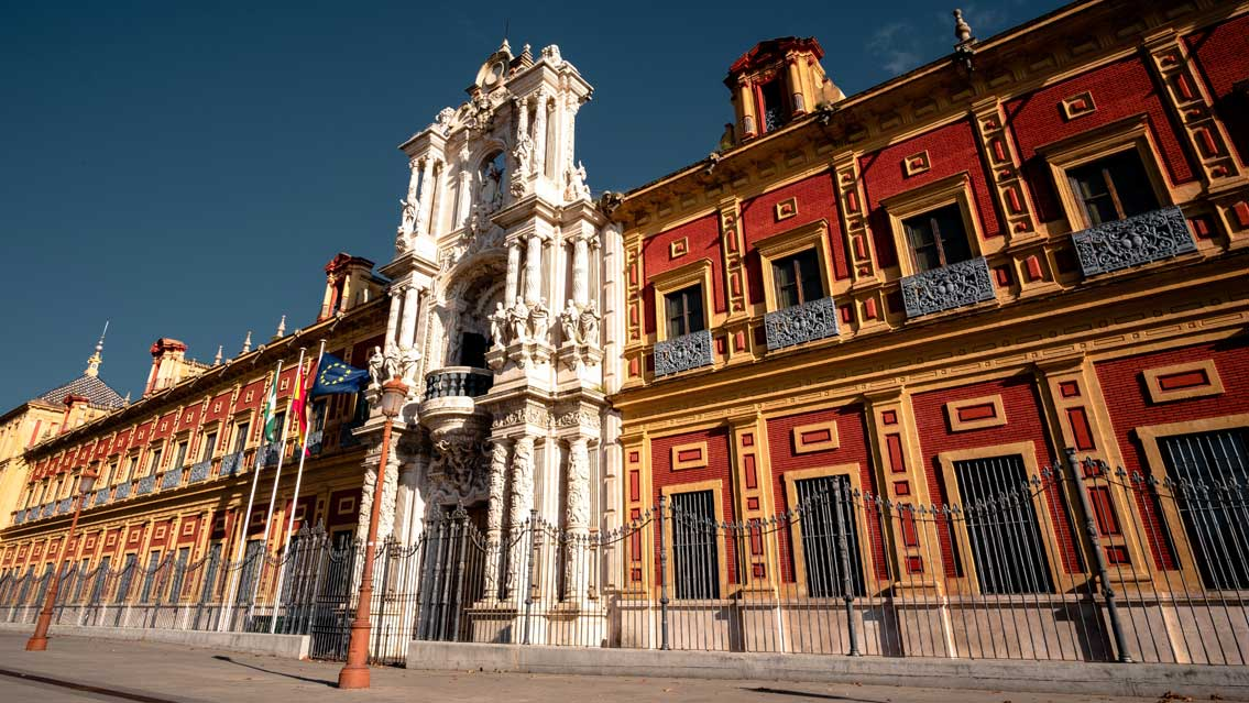 This wonderful palace is now is the seat of the presidency of the Andalusian Autonomous Government