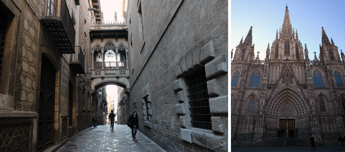 Feel the history in the narrow alleys of the Gothic Quarter, and go marvel at the Barcelona Cathedral.