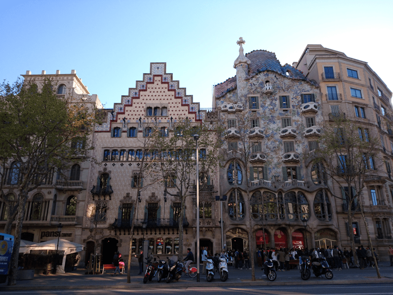 Barcelona's famous Block of Discord where you will find some of the most impressive modernist buildings in one location.