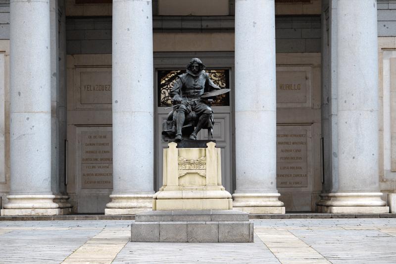 Entrance to the Prado Museum.