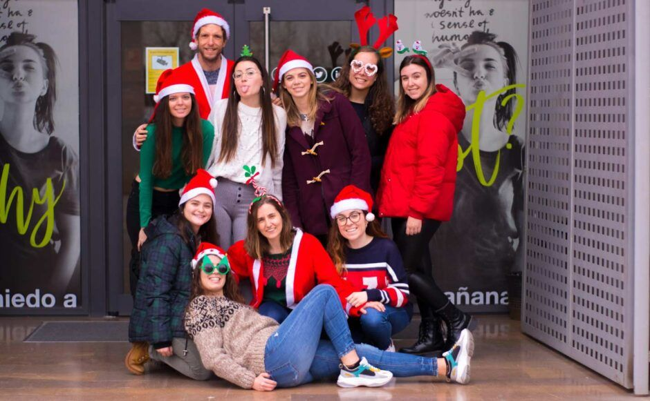 A group of CEU students during Christmas 2019