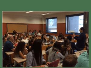 García Almaguer explica a alumnos de Ciencias Políticas y Periodismo su metodología