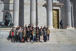 En la puerta del Congreso de los Diputados UCH-CEU
