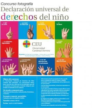 Cartel Concurso Declaración Universal de los Derechos del Niño