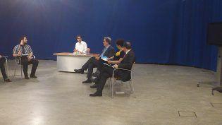 Prof. Federico Martínez Roda, Prof. Francisco Cardells y Prof. Ruth Abril en su papel como Altos Representantes
