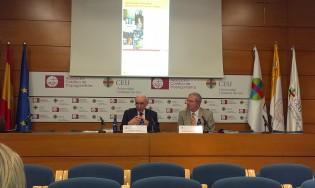 Joaquín Abellán, Catedrático de Ciencia Política de la Universidad Complutense de Madrid, dando una conferencia magistral