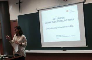 La Magistrada Lara Esteve explica la Junta Electoral de Zona